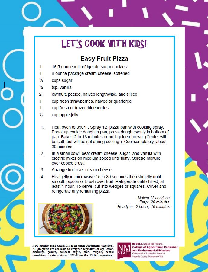 Cooking with Kids, Easy Fruit Pizza Recipe